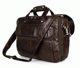 "Кожаная сумка Laptop Brown для ноутбука 15,6"""