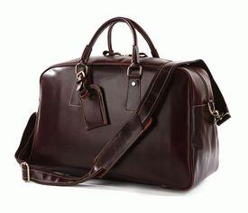 Дорожная кожаная сумка 7156B