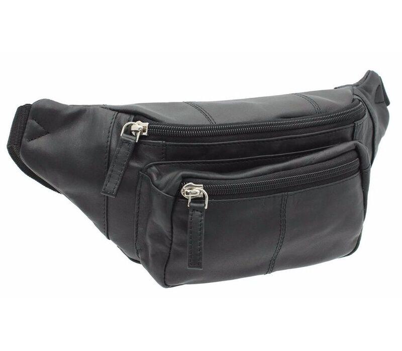 5db0655748af Кожаная мужская сумка на пояс VISCONTI - 720 BLK - купить в Киеве по ...