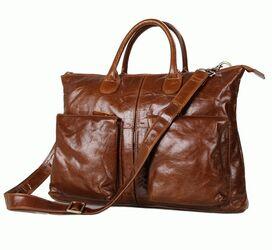 """Кожаный портфель мужской 7241B для ноутбука 15,6"""""""