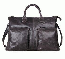 """Кожаный портфель мужской 7241J для ноутбука 15,6"""""""