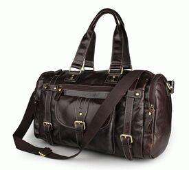 Дорожная кожаная сумка S.J.D. 7258Q