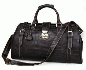 Дорожная кожаная сумка 7281Q