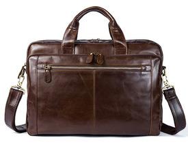 Портфель кожаный коричневый Marranti id