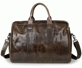 Вместительная кожаная сумка S.J.D
