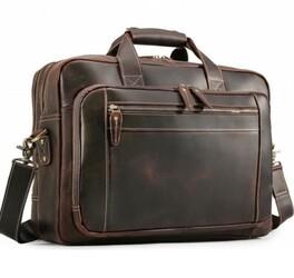 "Мужская кожаная сумка для ноутбука 17"" Buffalo Bags"