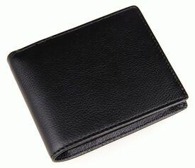 Классический черный мужской кошелек 8087A Buffalo Bags