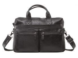 Кожаный черный портфель Bexhill