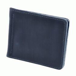 Зажим для денег кожаный Blanknote 1.0 синий
