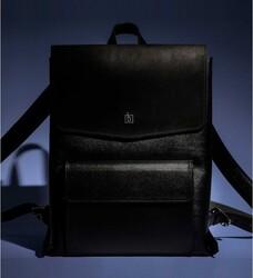 Кожаный рюкзак Blank - black point