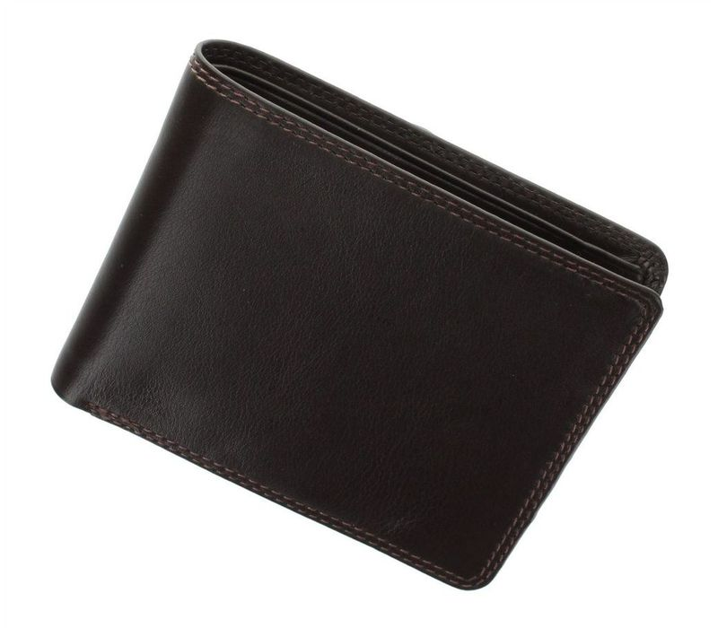 Мужской кожаный кошелек Visconti Heritage - HT7 CHOC - купить в ... 50d36b0d167