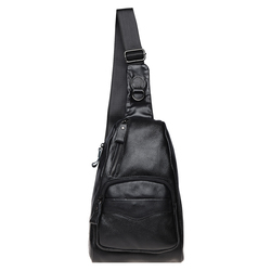 Мужской кожаный рюкзак через плечо Borsa Leather