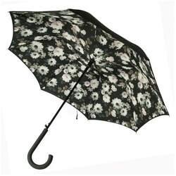 Зонт женский Fulton Bloomsbury-2 L754 Mono Bouquet (Черно-белый букет)