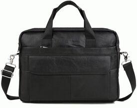 Кожаный черный портфель Buffalo Bags