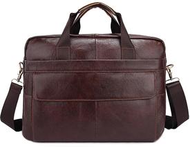 Кожаный коричневый портфель Buffalo Bags
