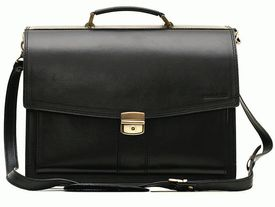 Классический мужской кожаный портфель PAV-20Black