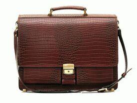 Классический мужской кожаный портфель Pav-20CBr