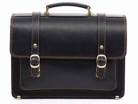 Деловой мужской кожаный портфель SPS-1Black