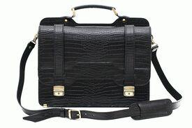 Деловой кожаный портфель SPS-3CB