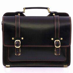 Деловой кожаный портфель SPS-4Black