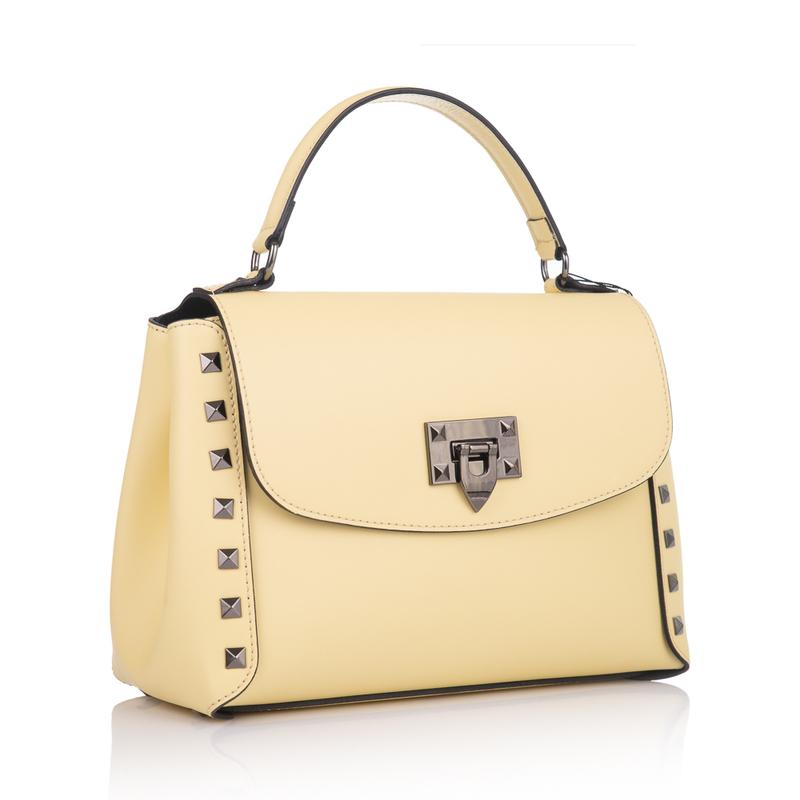 6ab9970dc119 Кожаная женская сумка Virginia Conti (Италия) - VC1367lemon - купить ...