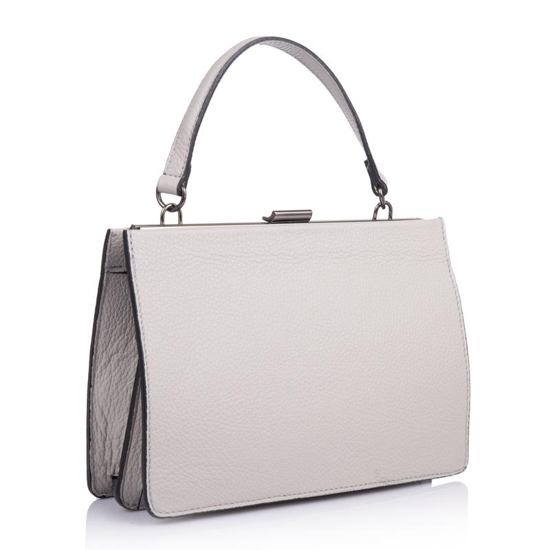 44fbbe5ea2fb Кожаная женская сумка Virginia Conti (Италия) - VC1961lgrey - купить ...