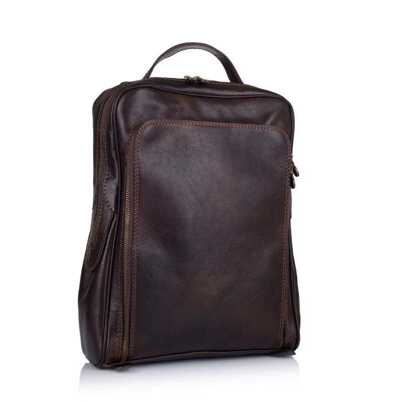 Мужской кожаный рюкзак Virginia Conti (Италия) - VCM00354C - купить ... 76afd28aecc