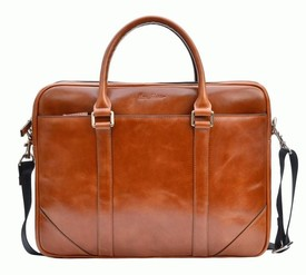 """Кожаный портфель для ноутбука 15"""" Issa Hara id"""
