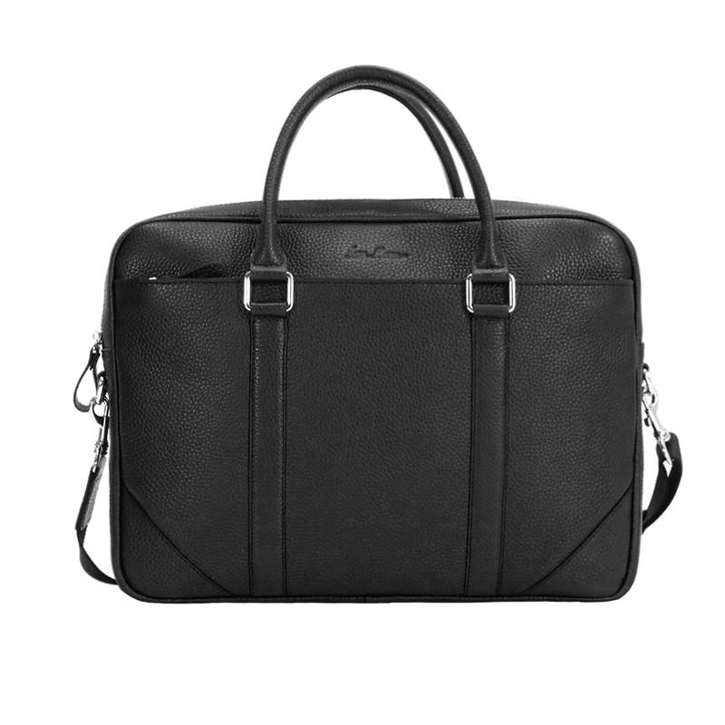 Кожаный мужской портфель Issa Hara 12867 - фото 1