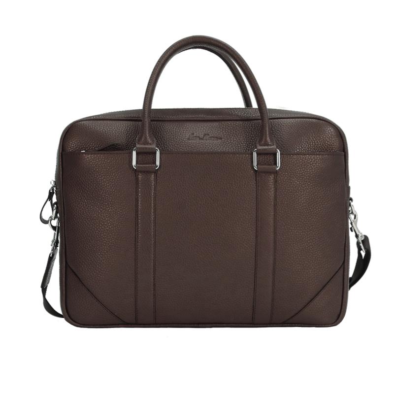 Кожаный мужской портфель Issa Hara 12868 - фото 1