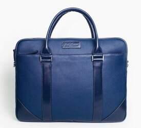 """Кожаный портфель для ноутбука 15"""" Issa Hara"""