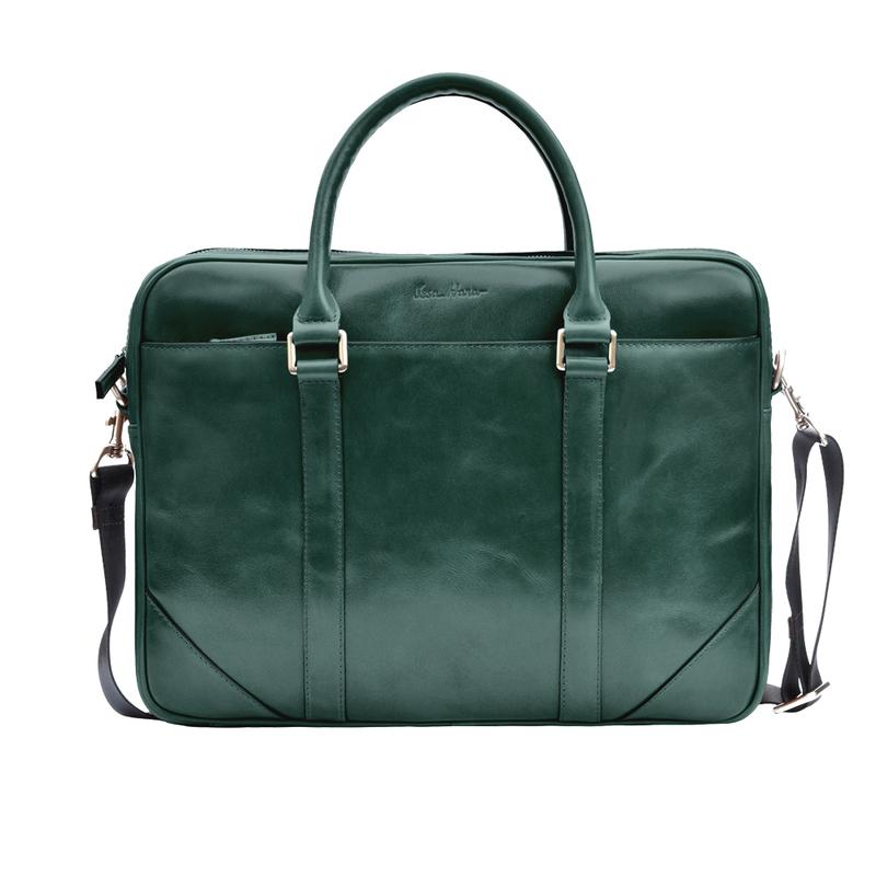 Кожаный мужской портфель Issa Hara 12875 - фото 1