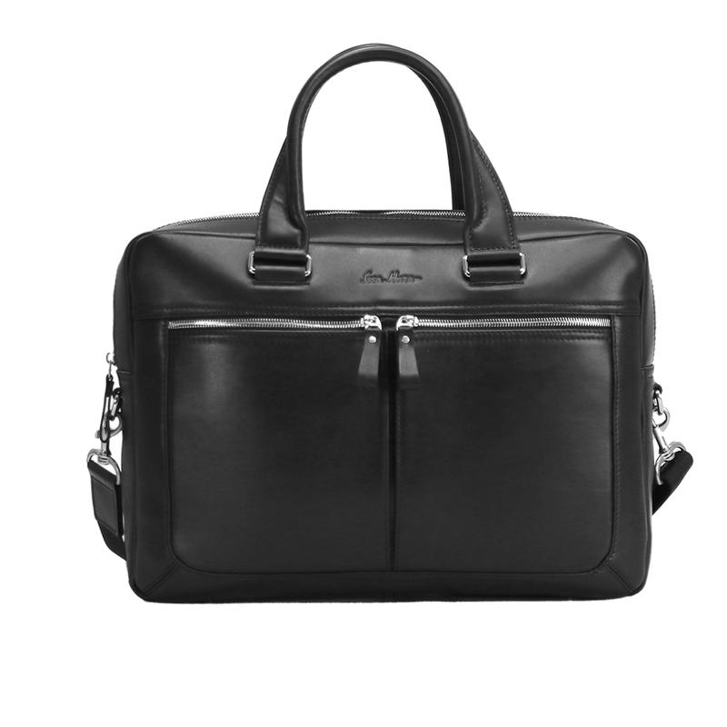 Кожаный мужской портфель Issa Hara 12877 - фото 1