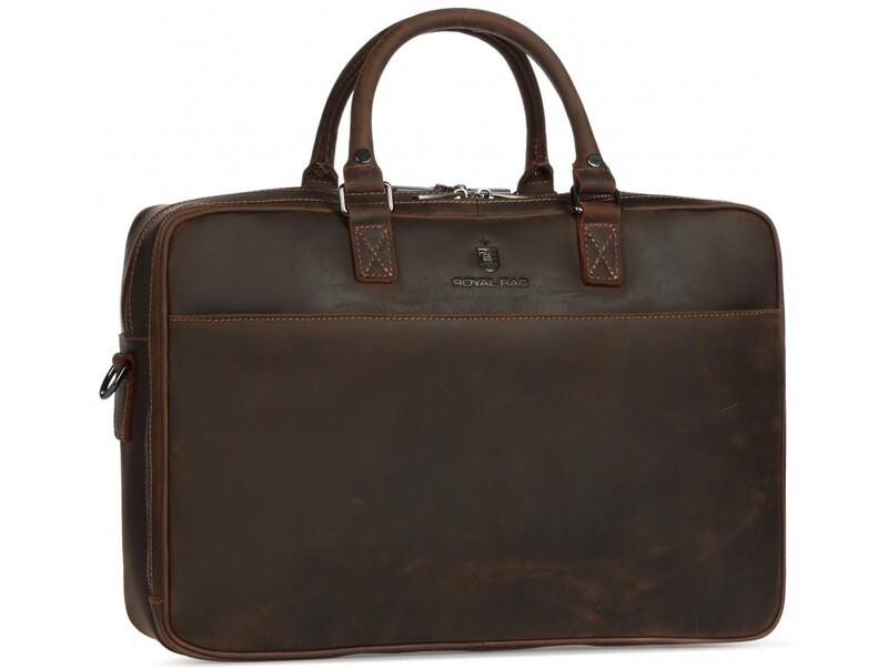 Мужская кожаная сумка RoyalBag 18034 - фото 1