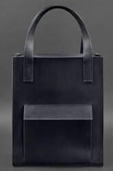 "Женская кожаная сумка Blanknote ""Бэтси"" с карманом"
