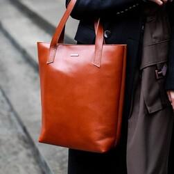 Женская кожаная сумка Blanknote D.D. Коньяк