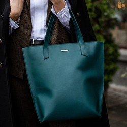 Женская кожаная сумка Blanknote D.D. Малахит