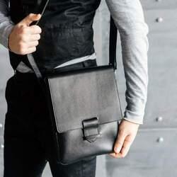Кожаная сумка-мессенджер BlankNote Esquire, графит id