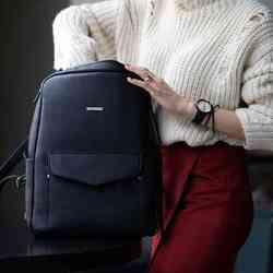 Кожаный рюкзак BlankNote COOPER, МИСТИК id