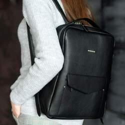 Кожаный рюкзак BlankNote COOPER, НУАР id