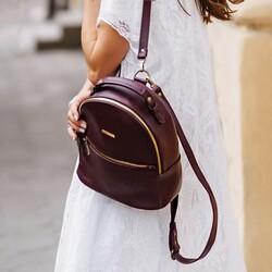 Кожаный рюкзак BlankNote Kylie марсала id