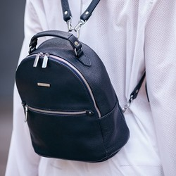 Кожаный рюкзак BlankNote Kylie синий id