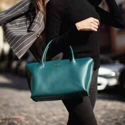Женская сумка MIDI Малахит
