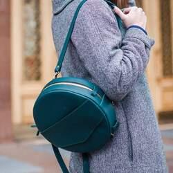 Круглая сумка-рюкзак BlankNote MAXI Малахит id