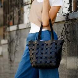 Женская кожаная сумка Blanknote Пазл L id