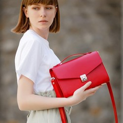 Женская кожаная сумка-кроссбоди Lola id