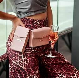 Набор женских кожаных сумок Mini поясная/кроссбоди