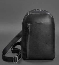 Кожаный рюкзак (сумка-слинг) на одно плечо Chest Bag id