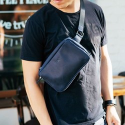 Кожаная сумка на пояс DROPBAG MAXI (Ночное небо) id