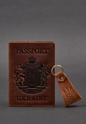 Подарочный набор кожаных аксессуаров с украинской символикой BlankNote